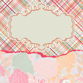 Romantische elegante bloemen met vintage rozen. eps 8 — Stockvector