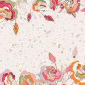 Cartão romântico dos namorados floral lindo. Eps 8 — Vetor de Stock