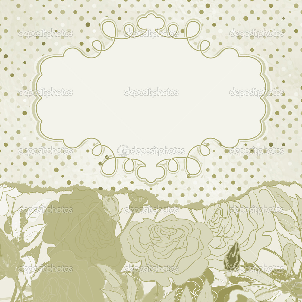 Vintage rose flowers template card. And also includes EPS 8 vector — Stock Vector #11887749