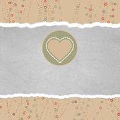 валентина карты с сердцем. eps 8 — Cтоковый вектор