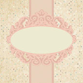 Romantic elegant floral with vintage roses. EPS 8 — Stock Vector