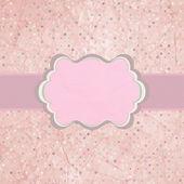 Pink polka dot design frame with dot. EPS 8 — Stock Vector