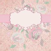 Romantic roses wedding invitation. EPS 8 — Stock Vector
