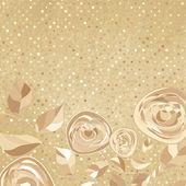 Ročník rám s růží na papíře polka dot. EPS 8 — Stock vektor