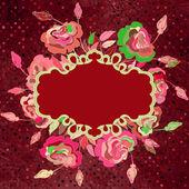Diseño con flores de colores y lunares. eps 8 — Vector de stock