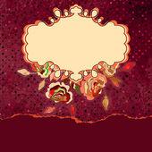 Retro floral sjabloon met gescheurde rand. eps 8 — Stockvector