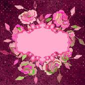 ブルー花柄レトロとビンテージ背景eps 8 — ストックベクタ