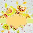 Royalty-Free Stock Imagen vectorial: Vector hand drawn style floral card. EPS 8
