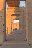 The interior of the Temple of Kom Ombo in sunset light. — Stock Photo