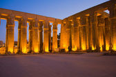 Luxor temple at night. (Luxor, Thebes, Egypt) — Stock Photo