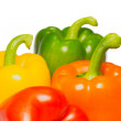 Royalty-Free Stock Photo: Color peppers on a white background.