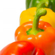 Color peppers on a white background. — Stock Photo
