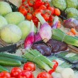 Vegetables ready for sale on the market — Stock Photo