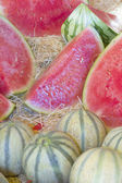Melons ready for sale on the market. — Stock Photo