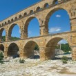 General view of the Pont du Gard (France) - Stock Photo