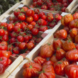 Tomatoes at the market — Stock Photo