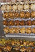 Barbecue chicken on a farmer's market — Stock Photo