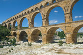 General view of the Pont du Gard (France) — Stock Photo