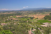 Aerial view of the region of Provence in France — Stock Photo