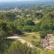 General view of Glanum and St. Remy de Provence — Stock Photo #12006870