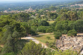 General view of Glanum and St. Remy de Provence — Stock Photo