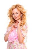 Beautiful blond woman — Stockfoto