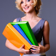 Stock Photo: Beautiful smiling businesswoman
