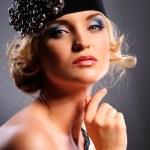Glamour portrait of beautiful woman — Stock Photo