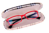 Glasses in a case — Stock Photo