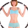 Exercises with hula hoop — Stock Photo #11462316