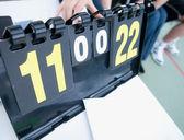 Tennis score board — Stock Photo
