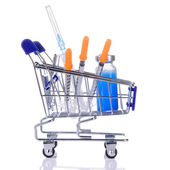 Medications in the cart — Stock Photo