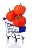 Tomates en el carro — Foto de Stock