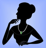 Lady in the necklace — Stock Vector