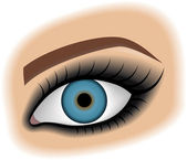 Smoky eyes — Stock Vector