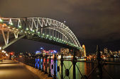 Sydney Harbor Bridge and Central Business District — Stock Photo