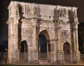 Arco de Constantino at night — Stock Photo