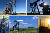 Oil Pump Jack and Refinery — Foto Stock