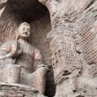 Stock Photo: Buddha statue at the Yungang Caves, China