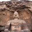 Giant stone Buddha, Yuangang Caves, Datong — Stock Photo