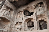 Carved buddhas at the Yungang Caves, Datong — Stock Photo