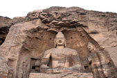Giant Buddha at the Yungang Grottoes, Shanxi — Stock Photo