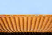 Tiled Chinese roof inside the Forbidden City, Beijing — Stock Photo