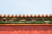 Ornate roof tiles, Forbidden City, Beijing — Stock Photo