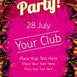 Royalty-Free Stock Vector Image: Summer Party flyer vector template