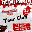 Metal Party flyer vector template — Stock Vector