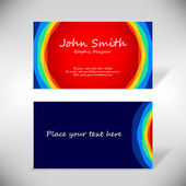 Colorful business-card — Stock Vector