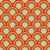 Seamless retro circles background — Stock Vector