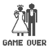 Grappige bruiloft symbool — Stockvector