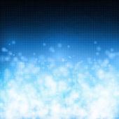 Bulles sur fond bleu technologie — Vecteur